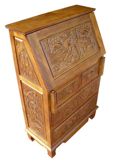 Hand Carved Writing Bureau