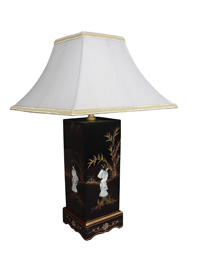 Mother of Pearl Lamp with Ladies Design - with Shade