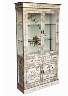 White Lacquer Display Cabinet