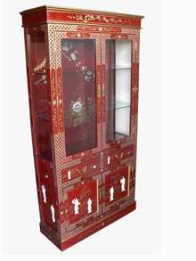 Red Lacquer Display Cabinet