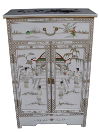 Mother of Pearl Cabinet w/Drawer
