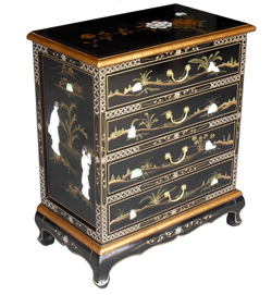 Chest of Drawers w/Mother Of Pearl Inlay