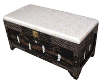 Mother of Pearl Ottoman w/Storage