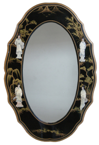 Mother Of Pearl Lacquer Mirror