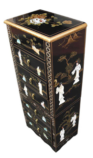 Black Lacquer Jewellery Armoire