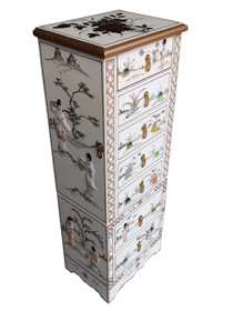 Mother of Pearl Jewellery Armoire/White