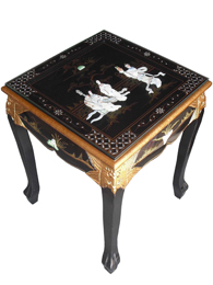 Mother of Pearl Square Lamp Table