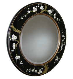 Hand Painted Blossom Mirror