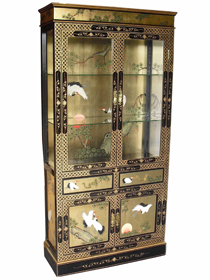Gold Leaf Display Cabinet