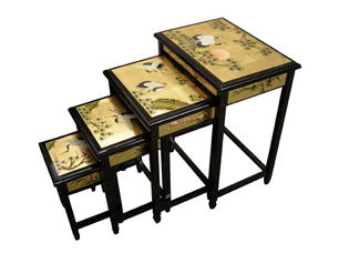 Gold Leaf Nest of Tables