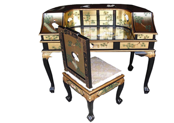 Gold Leaf Desk w/Chair